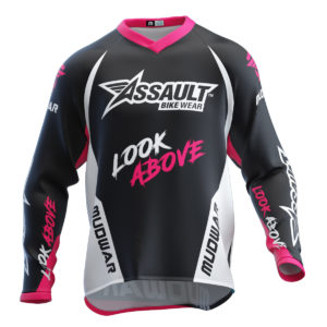assault-mudwar-blanco-rosa-type-one-enduro-dh-mx-wear-front