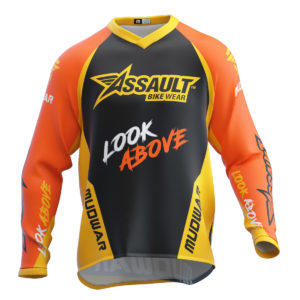 assault-mudwar-flag-naranja-amarillo-enduro-dh-mx-wear-front
