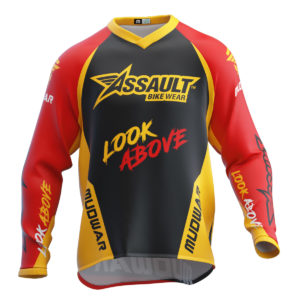 assault-mudwar-flag-rojo-amarillo-enduro-dh-mx-camiseta-front