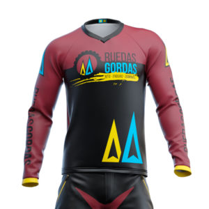 Camiseta-Larga-Ruedas-Gordas-Granate-1